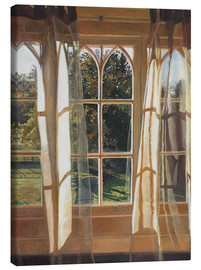 Canvas  The yellow window, 2013, - Helen White