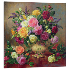Aluminium print  Roses from a Victorian Garden - Albert Williams