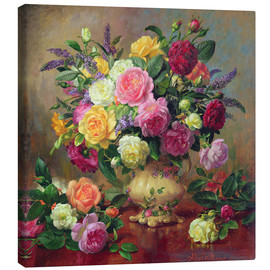 Canvas  Roses from a Victorian Garden - Albert Williams