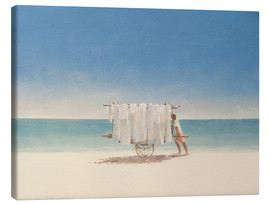 Canvas print  Cuban beach seller, 2010 - Lincoln Seligman