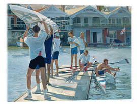 Acrylic print  Preparation for rowing - Timothy Easton