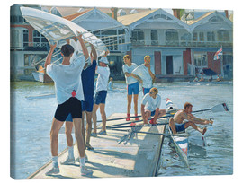 Canvas print  Preparation for rowing - Timothy Easton