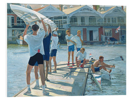 Foam board print  Preparation for rowing - Timothy Easton