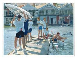 Premium poster Preparation for rowing