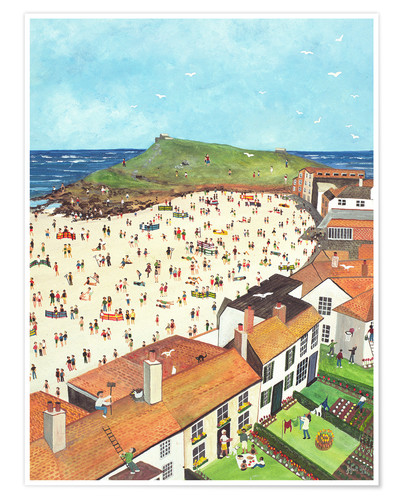 Premium poster View from the Tate Gallery St. Ives