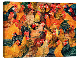 Canvas print  Chickens - Ditz