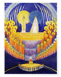 Premium poster  The Coronation of the Virgin Mary and the Glimmer of the Saints, 2003 - Elizabeth Wang