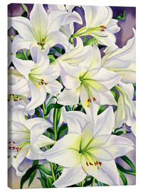 Canvas print  White lilies, 2008 - Christopher Ryland