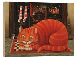 Wood print  The Cheshire Cat - Frances Broomfield