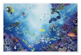 Poster  Underwater World - Odile Kidd