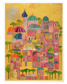 Premium poster  The Golden City - Laila Shawa