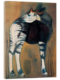 Wood print  Okapi - Mark Adlington