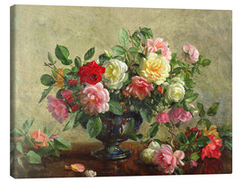 Canvas print  Rose Bowl filled with Roses - Albert Williams