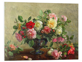 Forex  Rose Bowl filled with Roses - Albert Williams