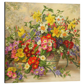 Aluminium print  Spring flowers and Poole Pottery II - Albert Williams