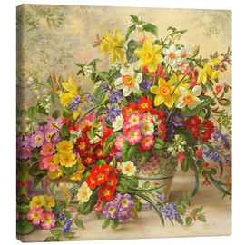 Canvas print  Spring flowers and Poole Pottery II - Albert Williams