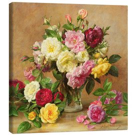 Canvas print  Old-fashioned Victorian roses - Albert Williams