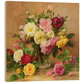 Wood  Old Fashioned Victorian Roses - Albert Williams