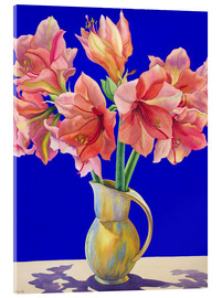 Acrylic print  Amaryllis in a vase, 2007 - Christopher Ryland