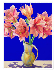 Premium poster  Amaryllis in a vase, 2007 - Christopher Ryland