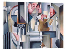 Acrylic print  Still life with roses - Catherine Abel