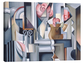 Canvas  STILL LIFE WITH ROSES - Catherine Abel