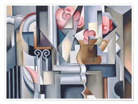 Premium poster  Still life with roses - Catherine Abel