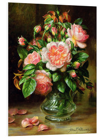 Albert Williams - English Elegance Roses in a Glass