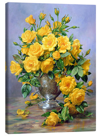 Canvas print  Bright Smile - Roses in a Silver Vase - Albert Williams