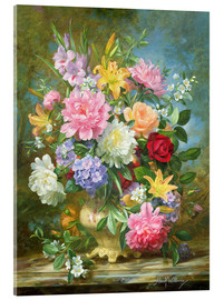 Acrylic print  Peonies and mixed flowers - Albert Williams
