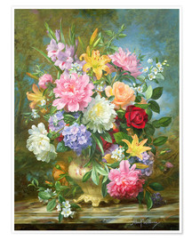 Premium poster  Peonies and mixed flowers - Albert Williams