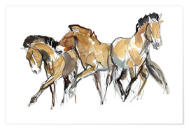 Premium poster  Herd of horses - Mark Adlington