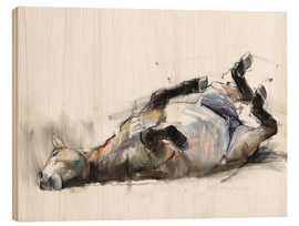 Wood print  Rolling Horse - Mark Adlington