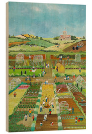 Wood print  Allotments - Judy Joel