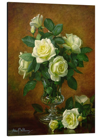 Aluminium print  Yellow Roses - Albert Williams