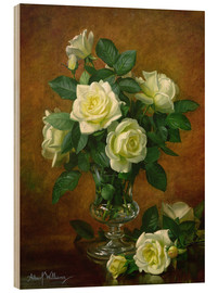 Wood print  Yellow Roses - Albert Williams