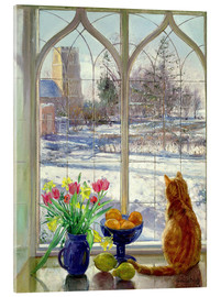 Acrylic glass  Snow Shadows and Cat - Timothy Easton