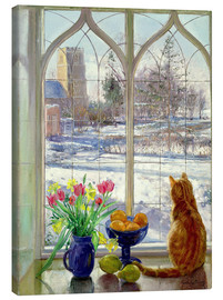 Canvas print  Snow Shadows and Cat - Timothy Easton