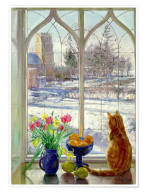 Poster  Snow Shadows and Cat - Timothy Easton