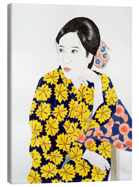 Canvas print  The yellow kimono, 1996 - Alan Byrne