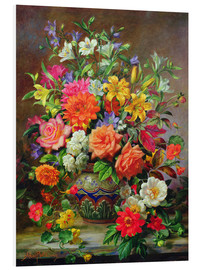 Foam board print  September Flowers, Symbols of Hope and Joy - Albert Williams