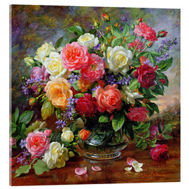 Acrylic print  Roses - the perfection of summer - Albert Williams