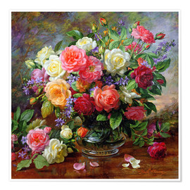 Poster  Roses - The Perfection of Summer - Albert Williams