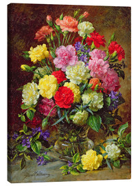 Canvas print  Carnations of Radiant Colours - Albert Williams