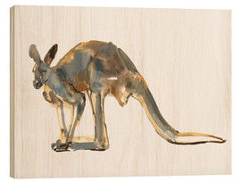 Wood print  Roo, side view - Mark Adlington