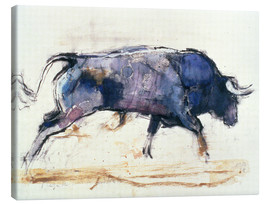 Canvas print  Charging bull - Mark Adlington