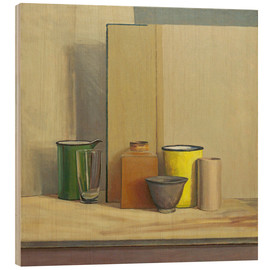 Wood print  Yellow and green - William Packer