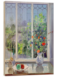 Wood print  Still life in the window - Timothy Easton