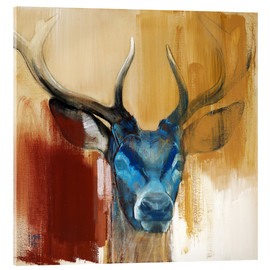 Acrylic print  Head of a deer - Mark Adlington