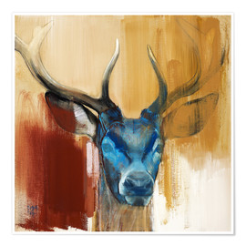 Premium poster  Head of a deer - Mark Adlington